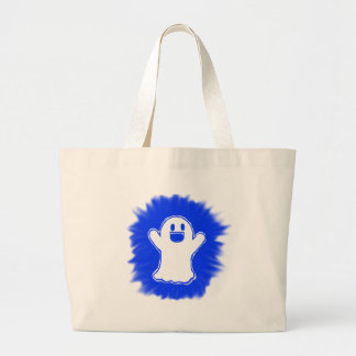 Happy ghost large tote bag