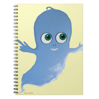 Happy Ghost Spiral Notebook