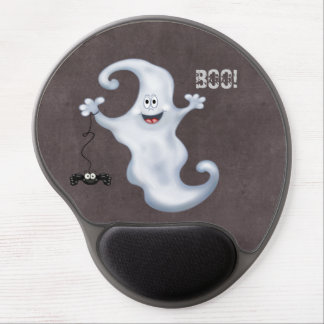 Happy Ghost with Spider Halloween Gel Mousepads