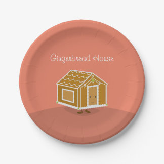 Happy Gingerbread House | Paper Plate