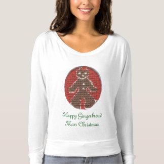 Happy Gingerbread Man Christmas Tee Shirt