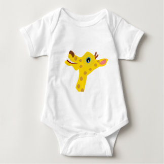 Happy giraffe baby bodysuit