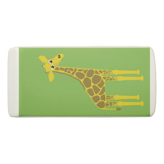 Happy giraffe eraser