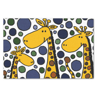 """Happy Giraffe Family Abstract Tissue Paper 10"""" X 15"""" Tissue Paper"""