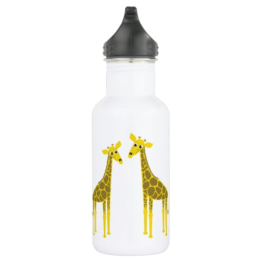 Happy giraffe herd 532 ml water bottle