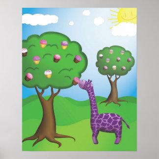 Happy Giraffe Print