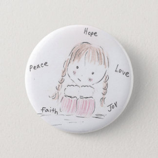 Happy Girl 6 Cm Round Badge