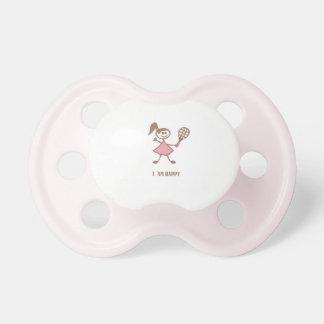 Happy girl baby pacifier