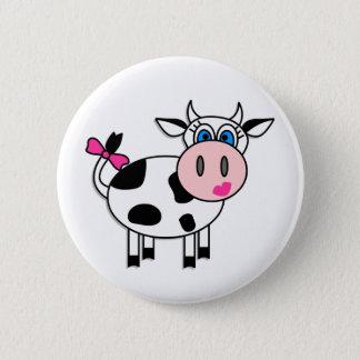 Happy Girl Cow 6 Cm Round Badge