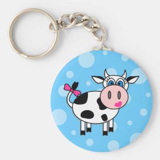 Happy Girl Cow Key Ring