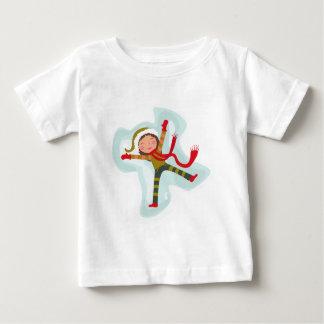 Happy Girl Making Snow Angel Xmas Winter T Shirt