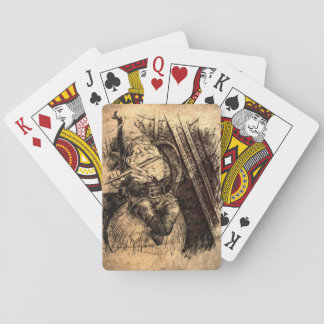 Happy Gnome Playing Cards