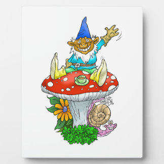 Happy Gnomes tea break. Photo Plaques