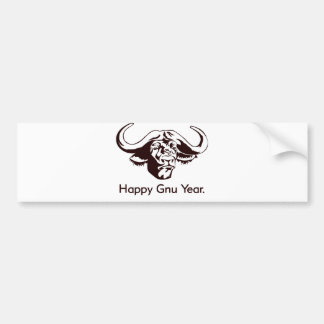Happy Gnu Year Bumper Stickers