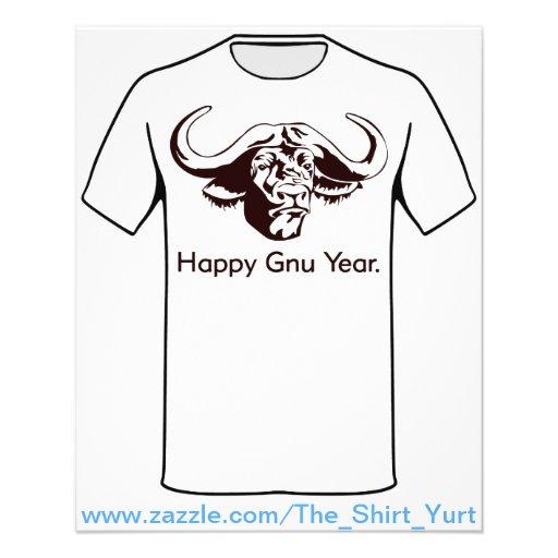 Happy Gnu Year Flyer Design