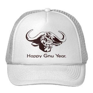 Happy Gnu Year Mesh Hat
