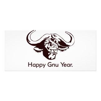 Happy Gnu Year Rack Card