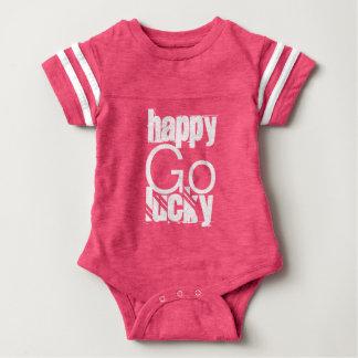 Happy-Go-Lucky Quote Typography Baby Bodysuit