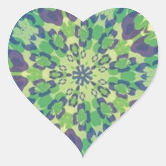 Happy Go Lucky Shamrock Kaleidoscope Heart Stickers
