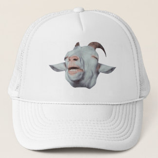 Happy Goat is Faded Trucker Hat