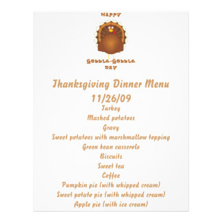 Happy Gobble-Gobble day Personalized Flyer