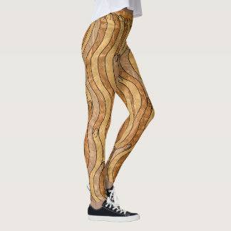 HAPPY GOLD TEXTURED SNAKES by Slipperywindow Leggings