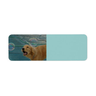 Happy Golden Retriever Return Address Label