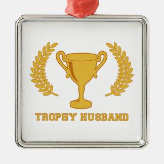 Happy Golden Trophy Husband Christmas Ornament