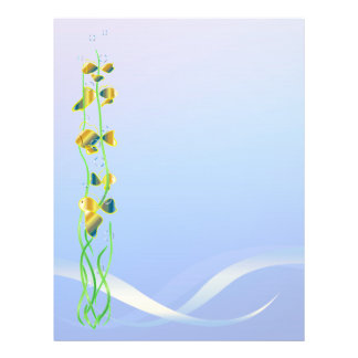 Happy Goldfish and Background blue Color 21.5 Cm X 28 Cm Flyer