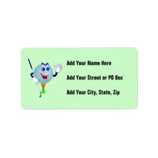 Happy Golf Ball T-shirts and Gifts Address Label