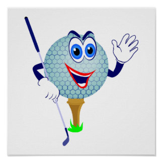 Happy Golf Ball T-shirts and Gifts Poster