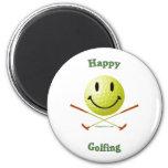 Happy Golfing Smiley Golf Ball
