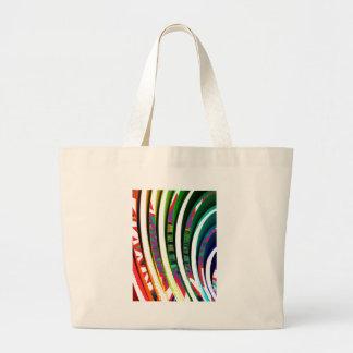 Happy Goodluck Waves n Lines Graphics art gifts Jumbo Tote Bag