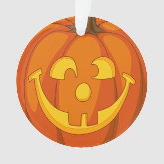Happy Goofy Jack O Lantern Halloween Pumpkin Face Ornament