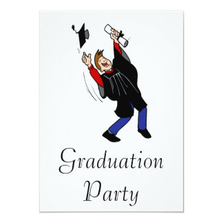 Happy Graduate Boy 13 Cm X 18 Cm Invitation Card