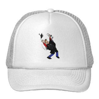 Happy Graduate Boy Mesh Hats