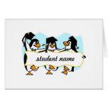 Happy Graduating Dancing Penguins w/Banner
