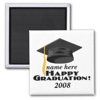 Happy Graduation-2008-customize it! Square Magnet