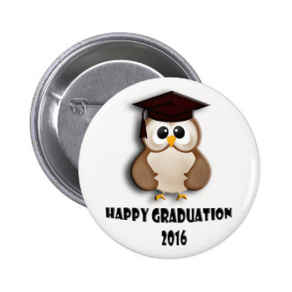 Happy graduation 2016 button. 6 cm round badge