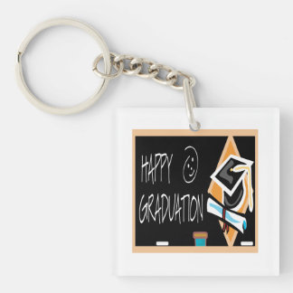 Happy Graduation 2 Double-Sided Square Acrylic Key Ring
