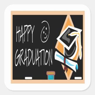 Happy Graduation 2 Square Sticker