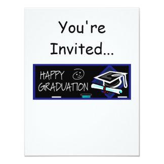 Happy Graduation Chalkboard 11 Cm X 14 Cm Invitation Card