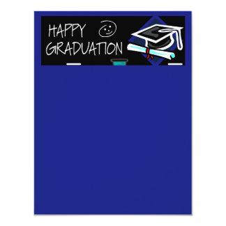 Happy Graduation Chalkboard Custom Invitation