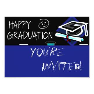 "Happy Graduation Chalkboard 5"" X 7"" Invitation Card"