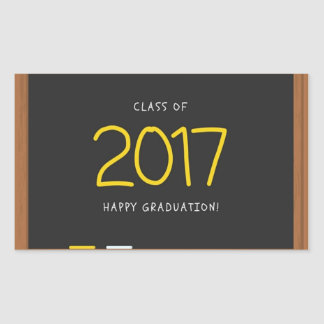 Happy Graduation class 2017! Rectangular Sticker