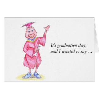 Happy Graduation or Graduation Thank You Note Greeting Card