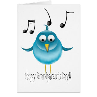 Happy Grandparents Day Bluebird Greeting Card
