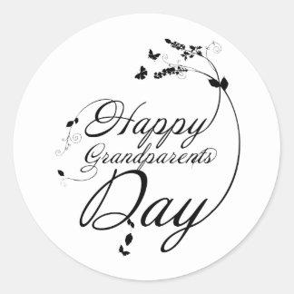 Happy grandparents day etiqueta redonda