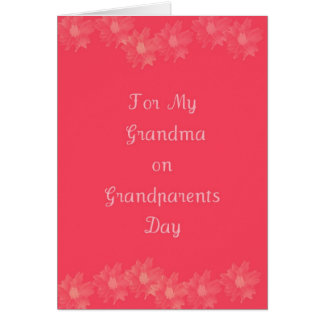 Happy Grandparents Day Grandma Card