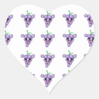 Happy Grapes Heart Sticker